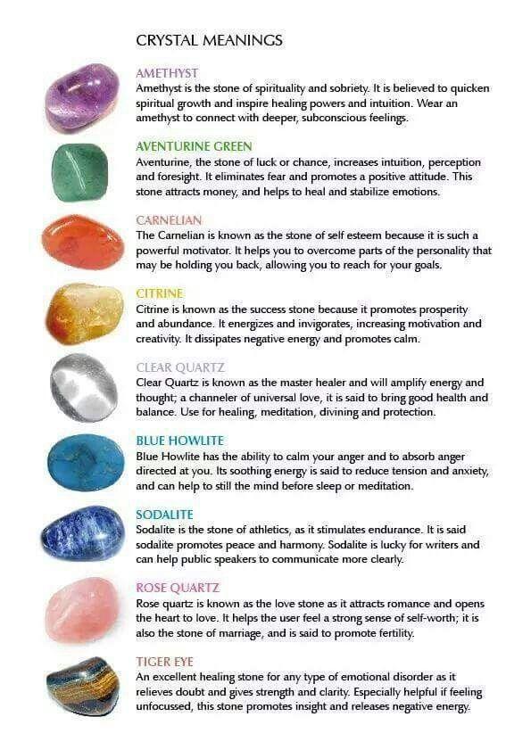 Crystal Meanings Spiritual Awakening Stones Crystals