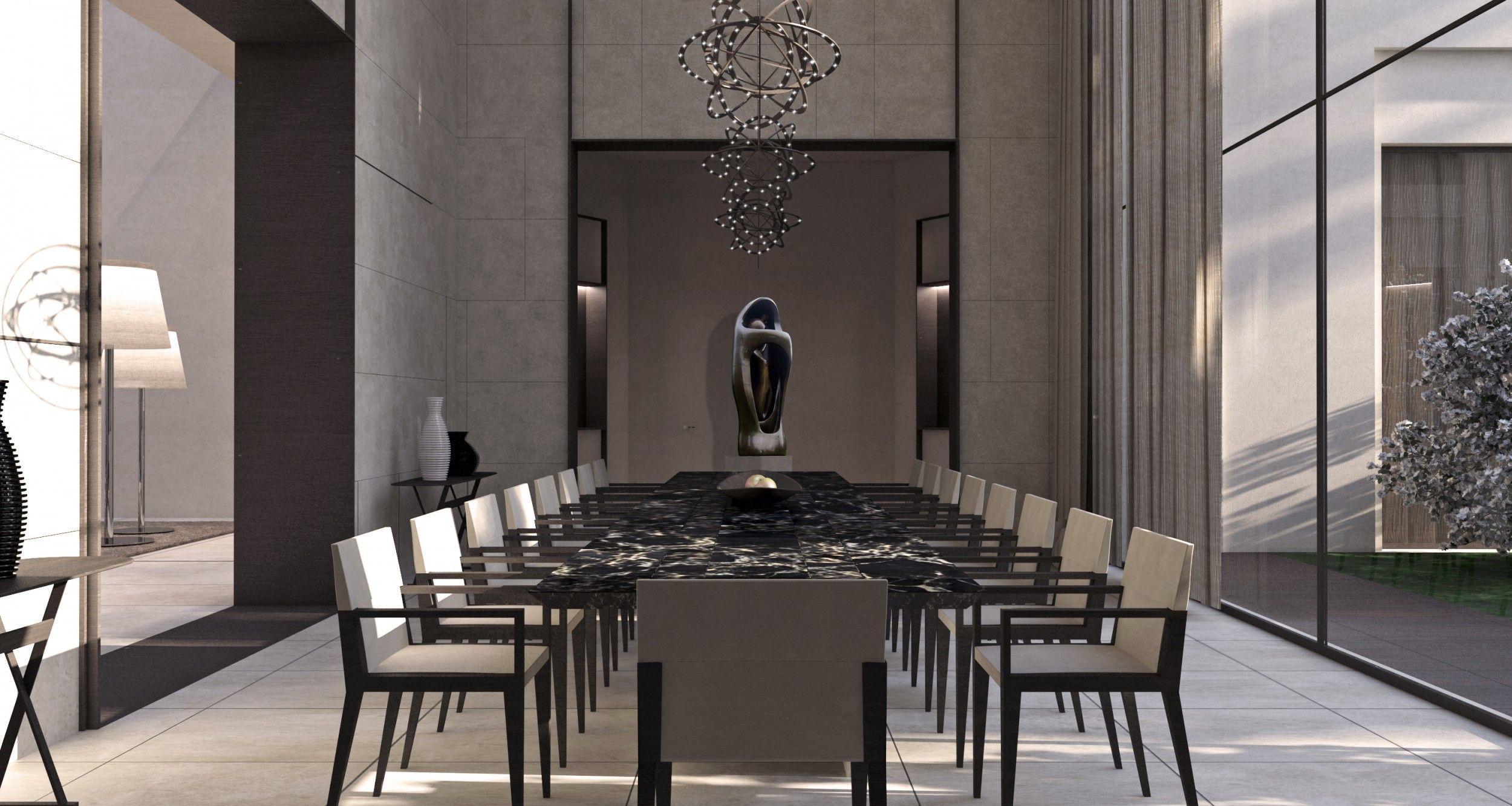 Best International Interior Designers To An Exclusive Private Villa Matteo Nunziati Lobby Interior Design Central London Apartments Dining Room Interiors