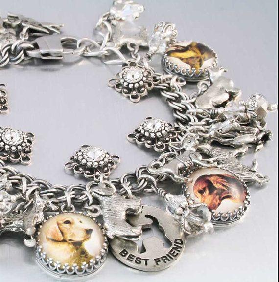 Dog Mom Jewelry, Dog Bracelet, Multiple Pets Charms
