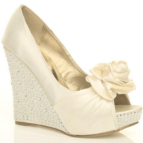 ee9eb5ee7 dressy wedges ivory | Wedding Shoes Wedges Ivory | Clothing and hair ...