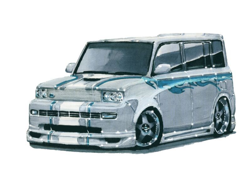 2005 Scion Xb I Did This One For A Friend As A Concept Design For The Mods He Planned To Do To His Car Before He Sold It Toyota Scion Xb