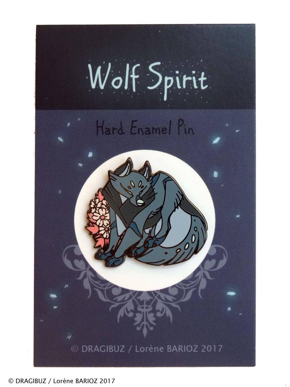 0b4eb0f33d6 Wolf Spirit Hard Enamel Pin by Dragibuz on Etsy
