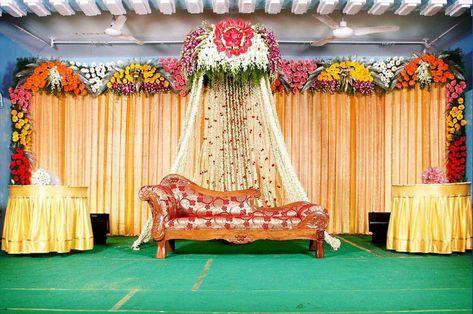 Simple Flower Stage Decoration For Engagement Idea Pinterest