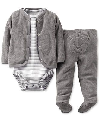 e574ffddf Carter's Baby Boys' 3-Piece Bodysuit, Cardigan & Pants Set | Baby ...