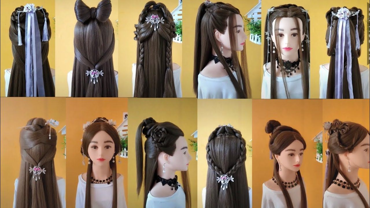 Top 12 Easy Chinese Old Traditional Hairstyles Tutorial Best Hairstyles Hair Styles Traditional Hairstyle Hair Tutorial