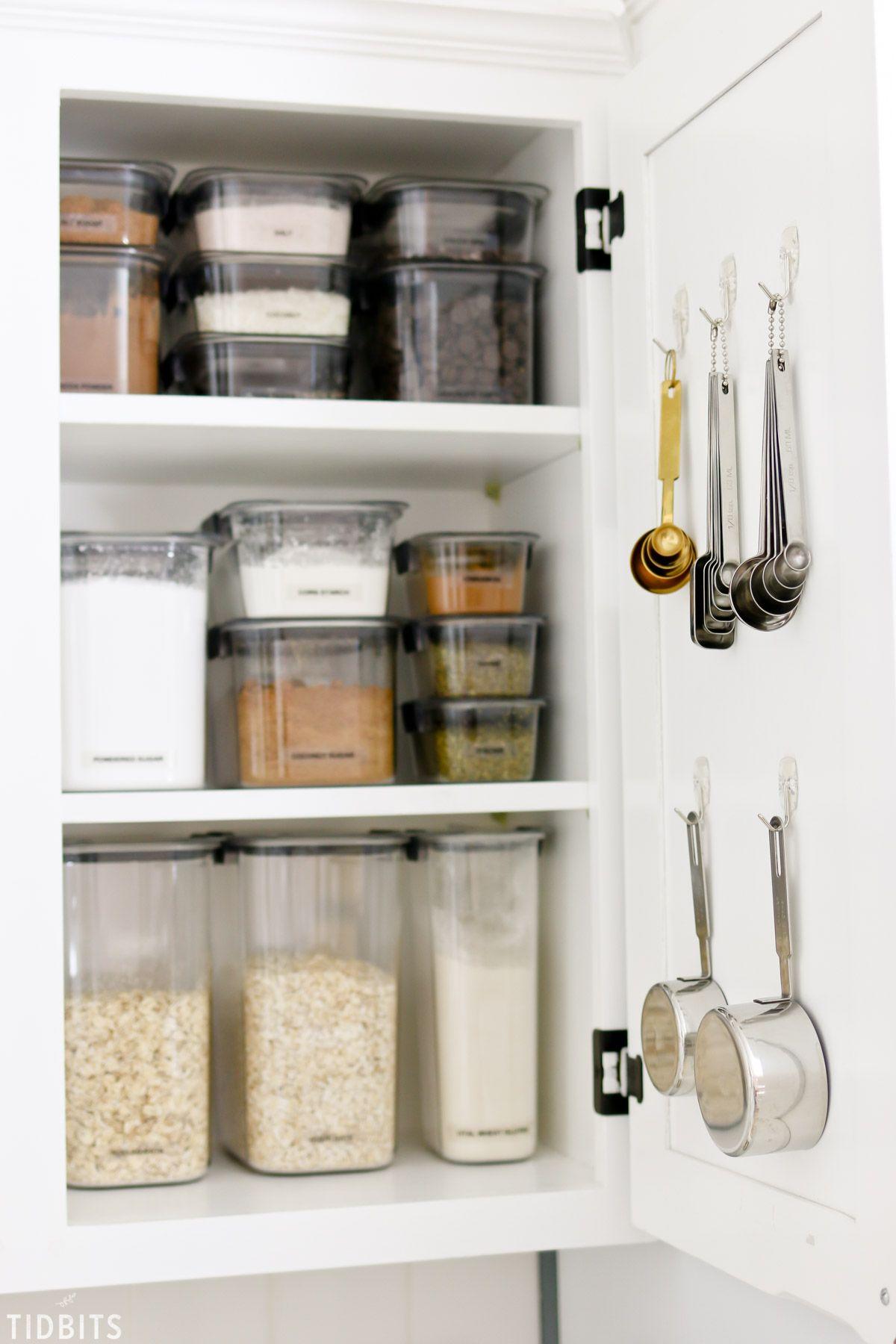 Baking Cupboard Organization Cupboards Organization Kitchen
