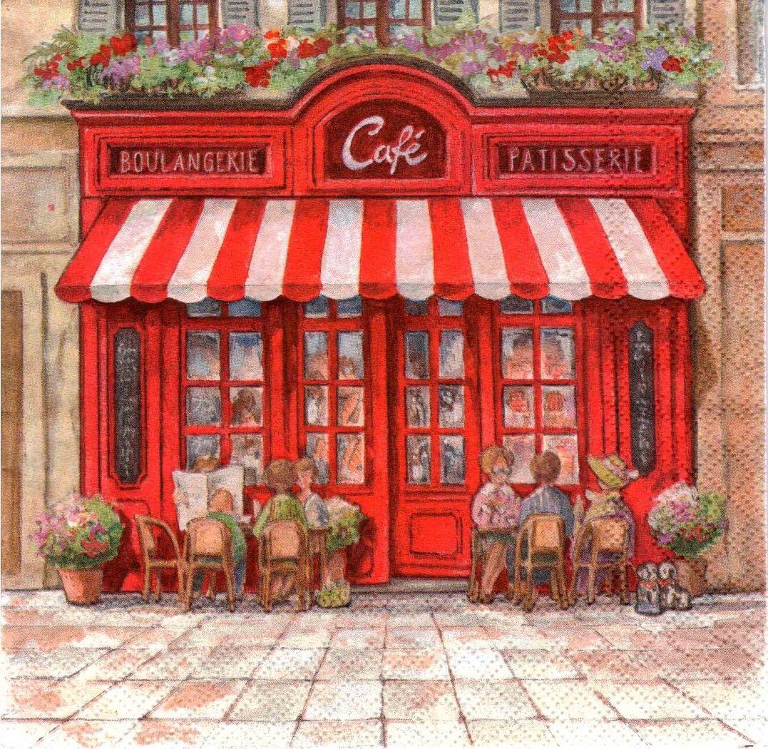 картинки для декупажа парижское кафе: 9 тыс изображений ...