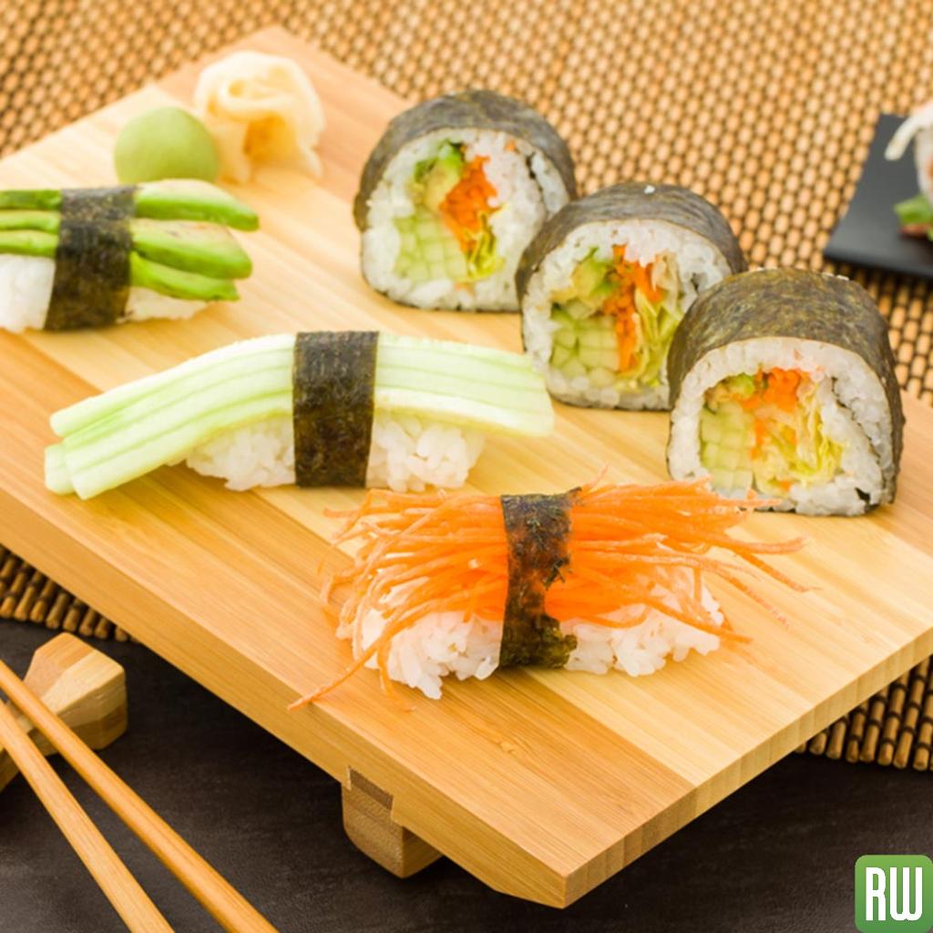 Japanese Buddha Rectangle Natural Bamboo Sushi Plate 9 1 2 X 6 X 1 1 4 1 Count Box Sushi Plate Sushi Bamboo Sushi