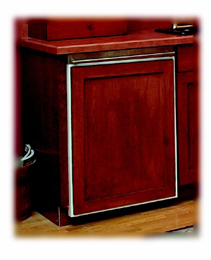 Match your appliances to your cabinets with wood panels - Custom kitchen appliances ...