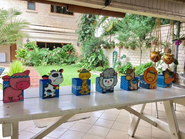 Porta golosinas de animalitos, pintura decorativa en acrilico