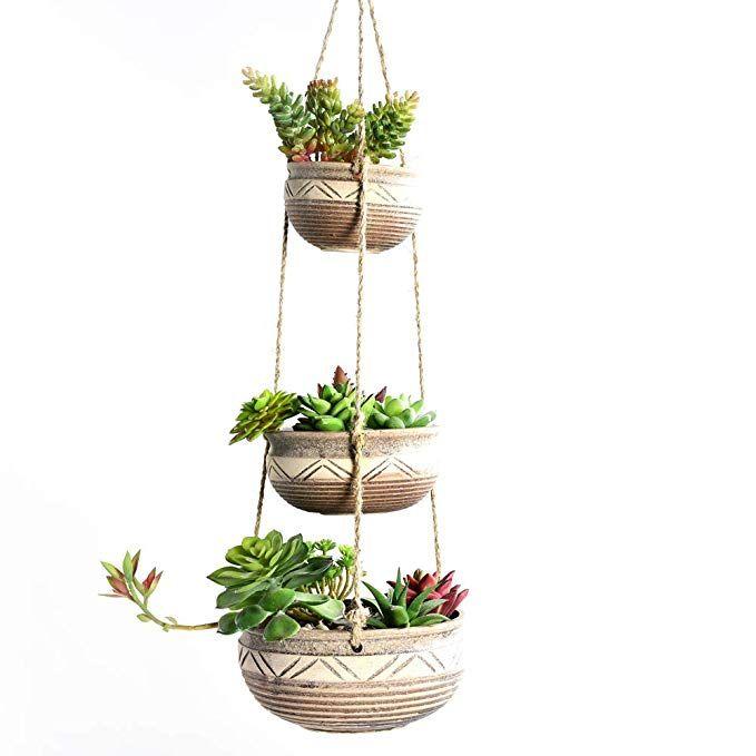 Amazon.com : SUN-E 3-Tier Wall Hanging Planter Boxes ...