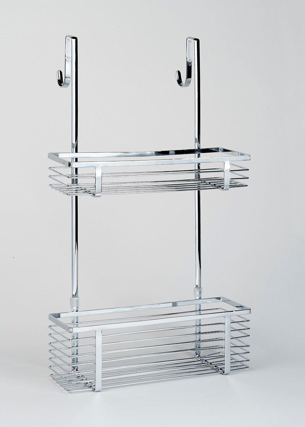 Chrome Over Shower Door Caddy (51cm x 30cm x 10cm) | New home ...