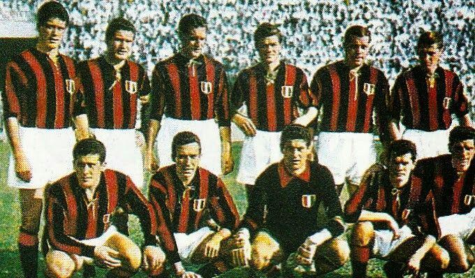 AC Milan team group in 1955.