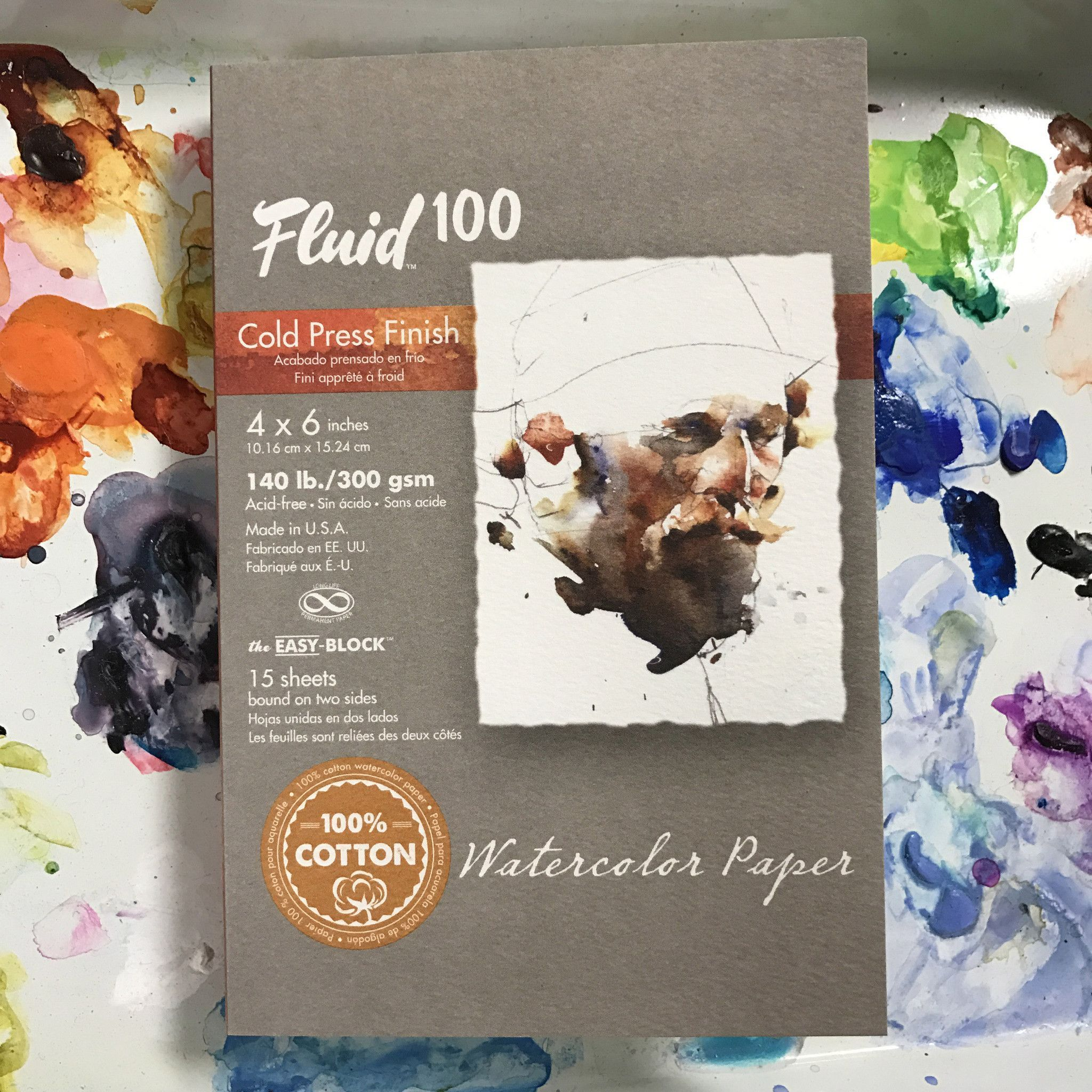 Fluid Watercolor Block 4 X 6 Watercolor Arts Crafts