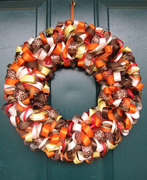 Best 25+ Fall Ribbon Wreath Ideas On Pinterest
