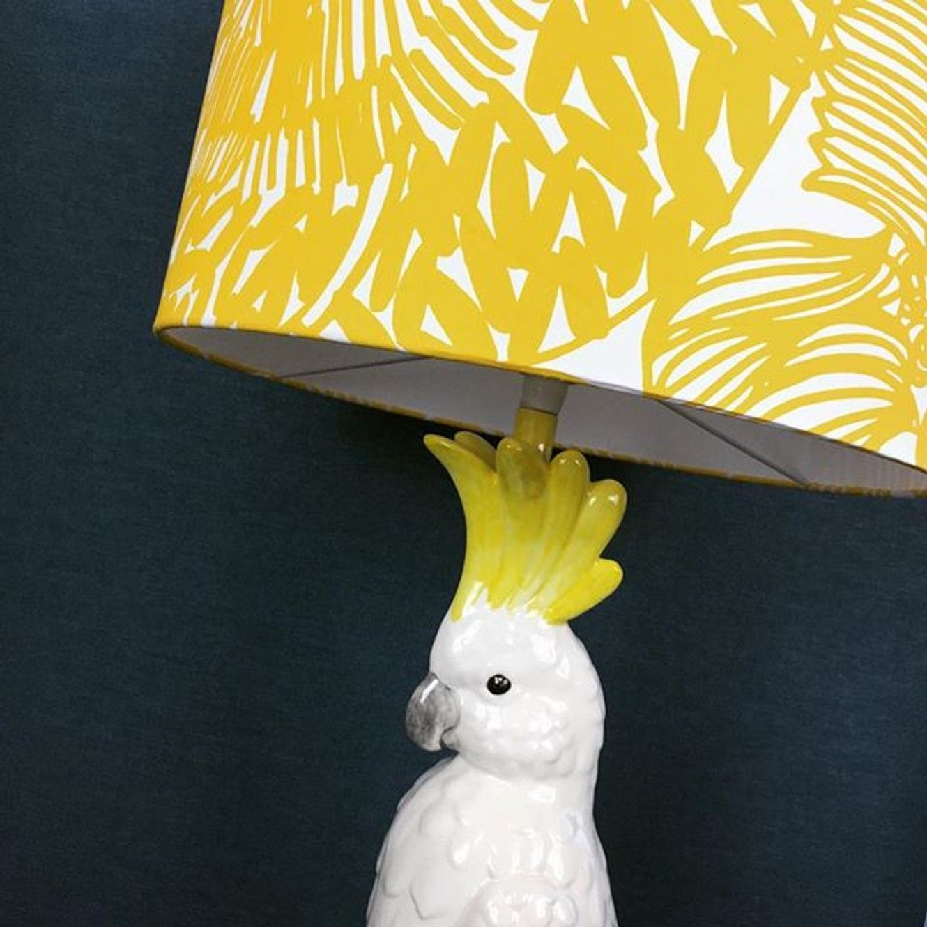 Table Lamps With Personality Australian Made Cockatoo Lamps And All Other Hand Painted Lamps In 2020 Painting Lamp Shades Animal Lamp Handmade Lampshades