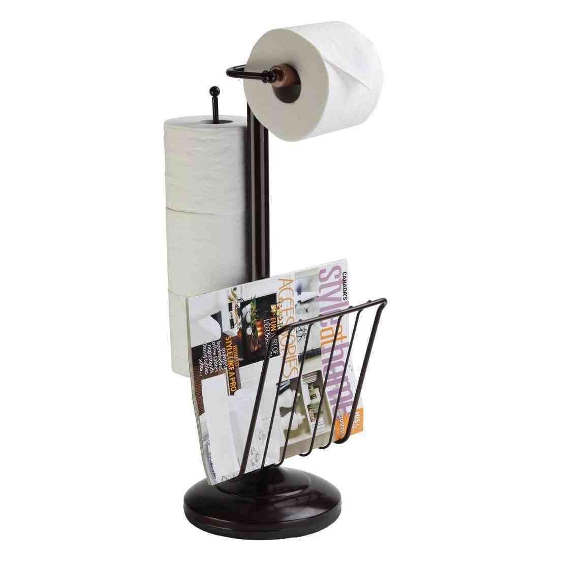 New Post Bathroom Toilet Paper Holder Free Standing