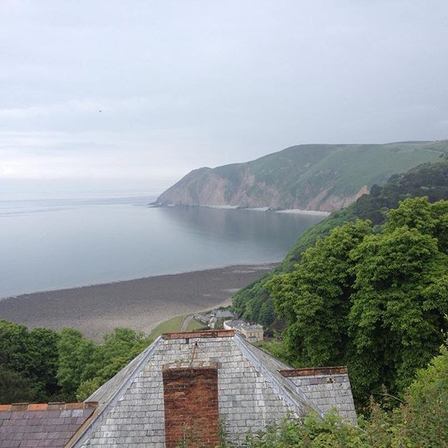#Lynmouth from #Lynton #NDevon #NorthDevon #North_Devon #Devon #Sea #BristolChannel #Exmoor
