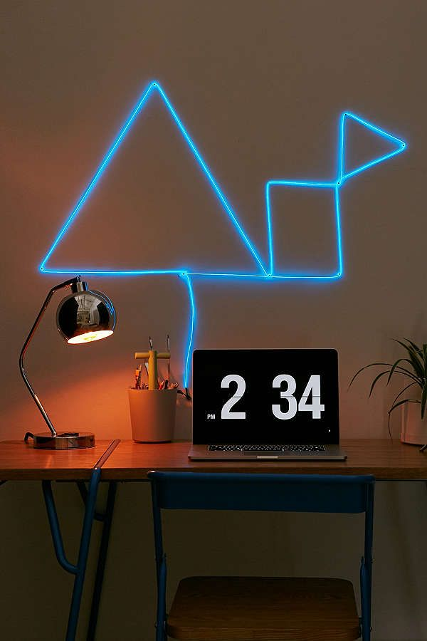 Customizable Neon El Wire Light | Lights, Room decor and Mid century