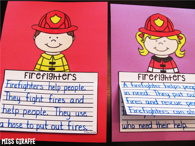 Community helpers crafts for kids fun writing centers like