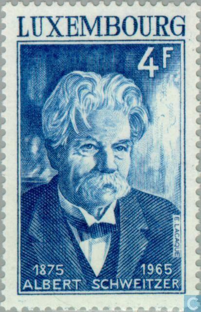 Stamps - Luxembourg - Albert Schweitzer 1975