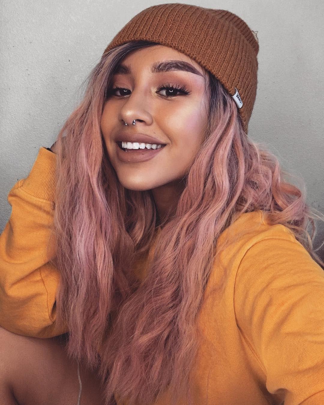 "JAZMIN GONZALEZ on Instagram  ""JUST FILMED A VIDEO BRO. ⚡ • wig    donalovehair • sweater   brandymelvilleusa • beanie   vans  yellow   mustard ... f8d68f71748"