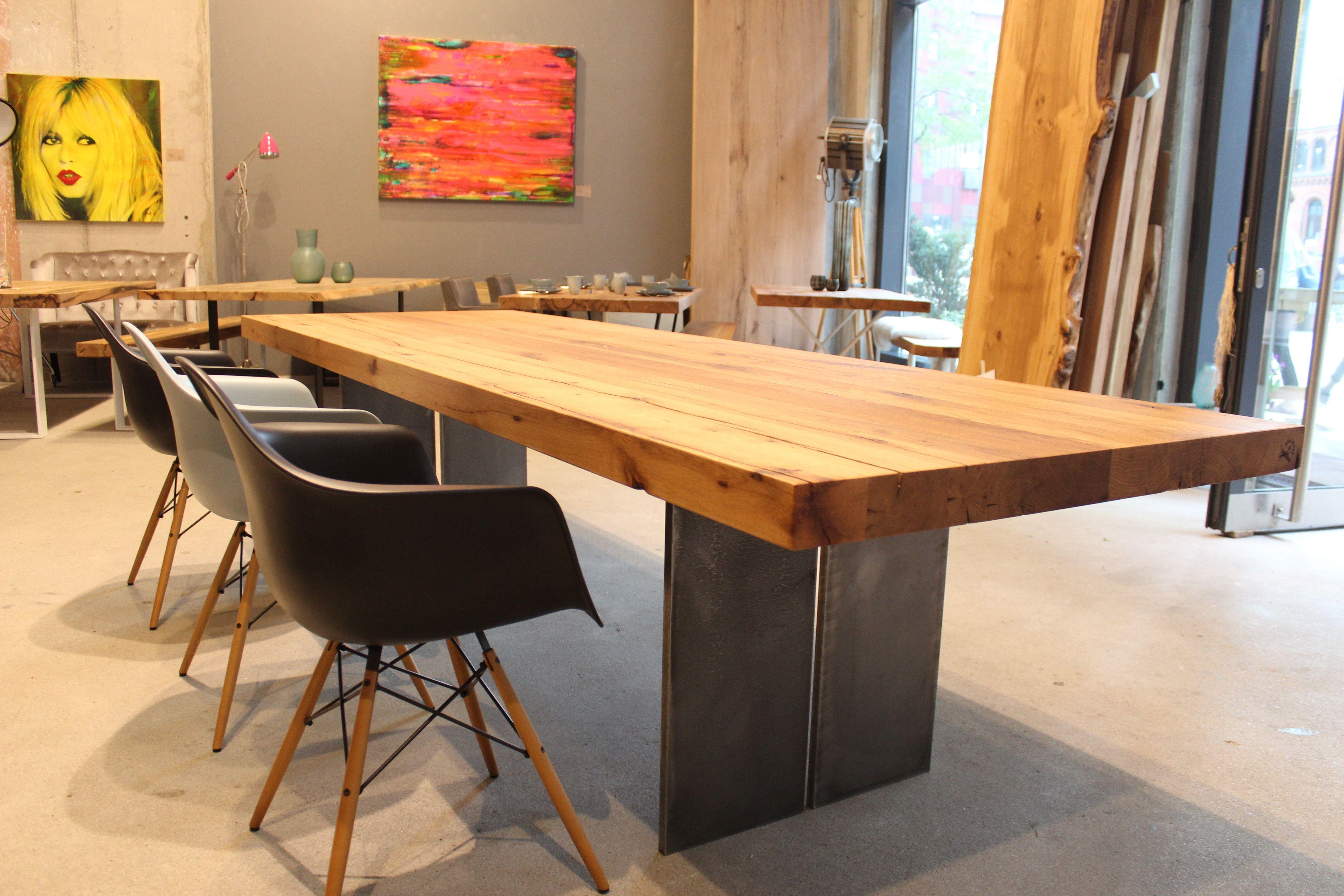 Esstisch Massivholztisch Dinningtable Interior Eichentisch Holz