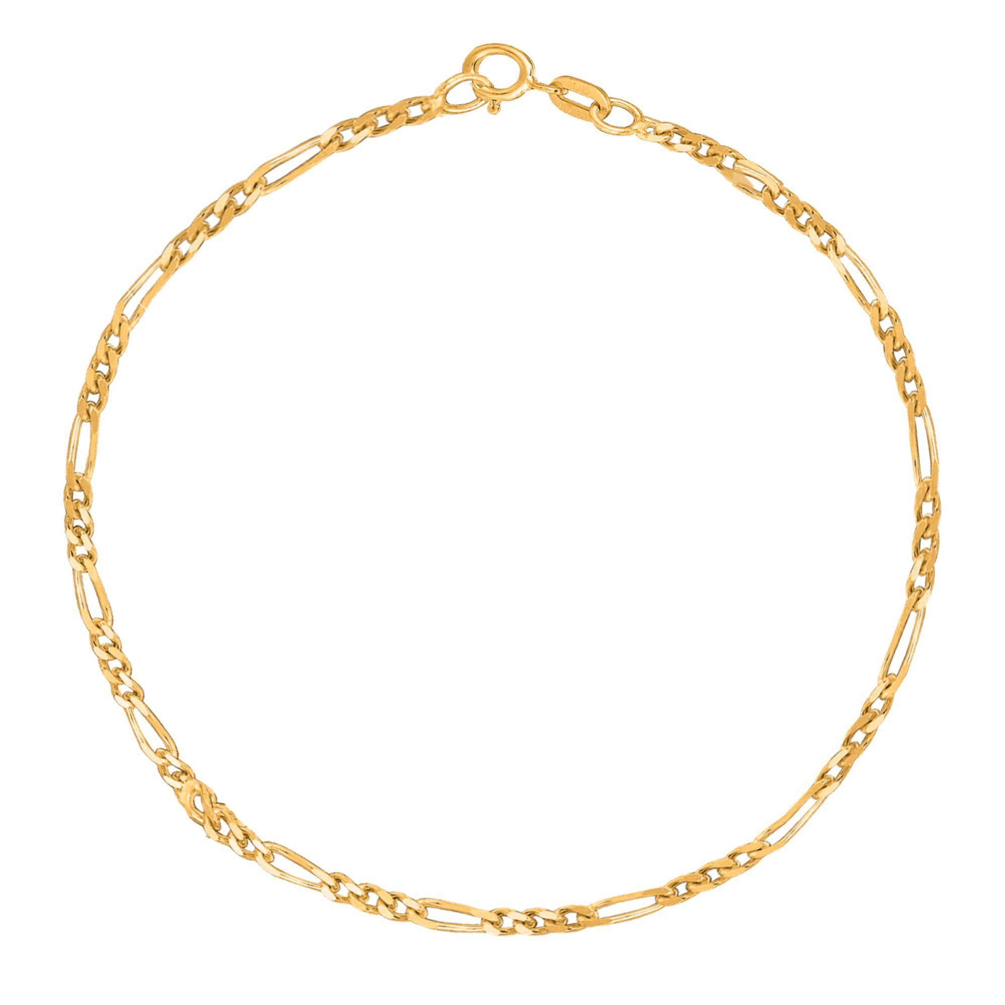 or pin solid rope anklet bracelet yellow chain gold fremada mm