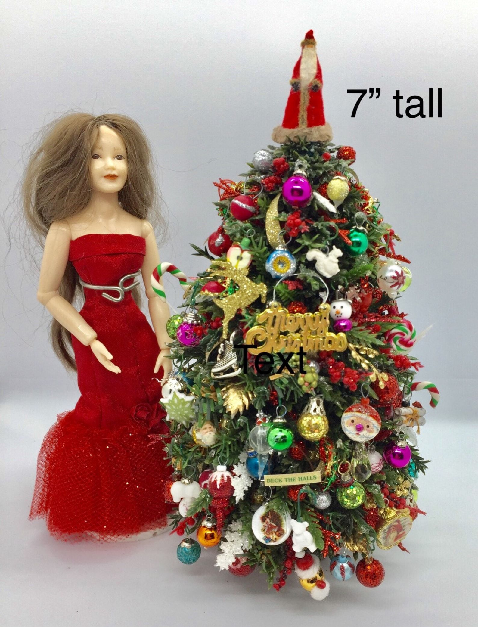 Dolls House Red Xmas Tree Skirt Miniature 1:12 Scale Christmas Accessory