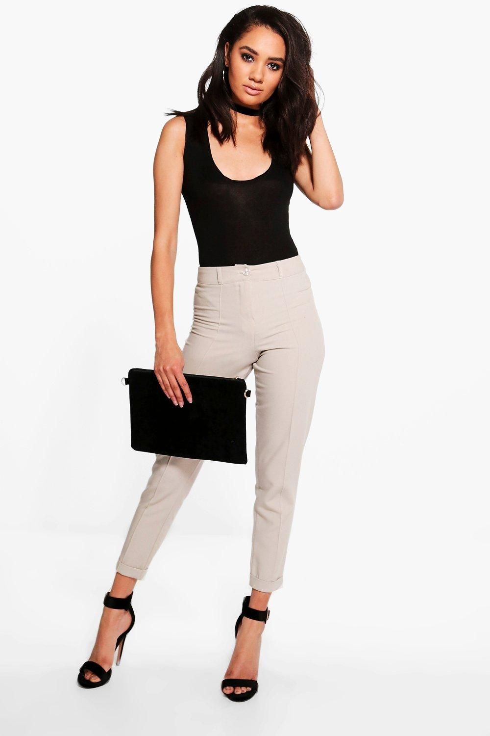 ba2a4990ace7 Petite Turn Up Tailored Woven Trousers in 2019   Wish List ...