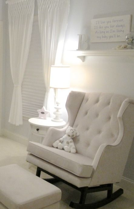 You Can Never Go Wrong With A Classic All White Nursery. You Can Add A Soft  Baby Blue Or Soft Rose Quartz Colored Throw To Define.  KC