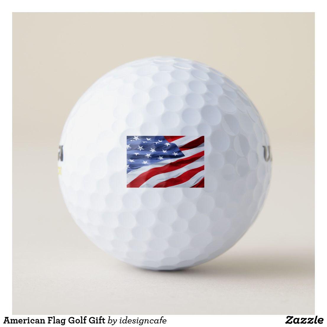 American flag golf gift golf balls golf