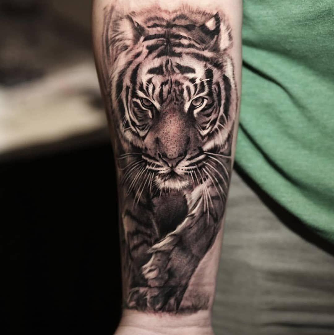 호랑이, Tiger Fertig von @shine_tattoos in Q Studio. Info: qtattoostudio @ gma ……