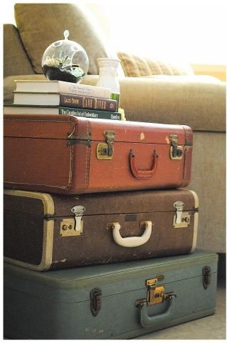 ideas for Old Suitcase Vintage Luggage | Repurposed Suitcase ...