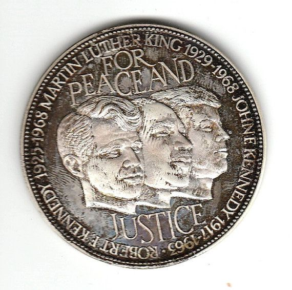 1968 For Peace And Justice Medal Medals Peace John F Kennedy