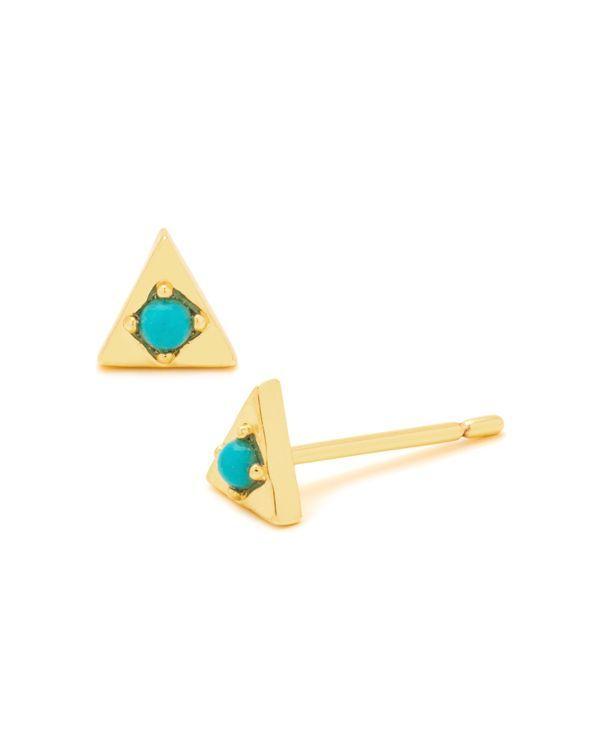Gorjana Mirrah Triangle Stud Earrings