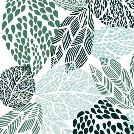 turquoise and green leaves | pattern