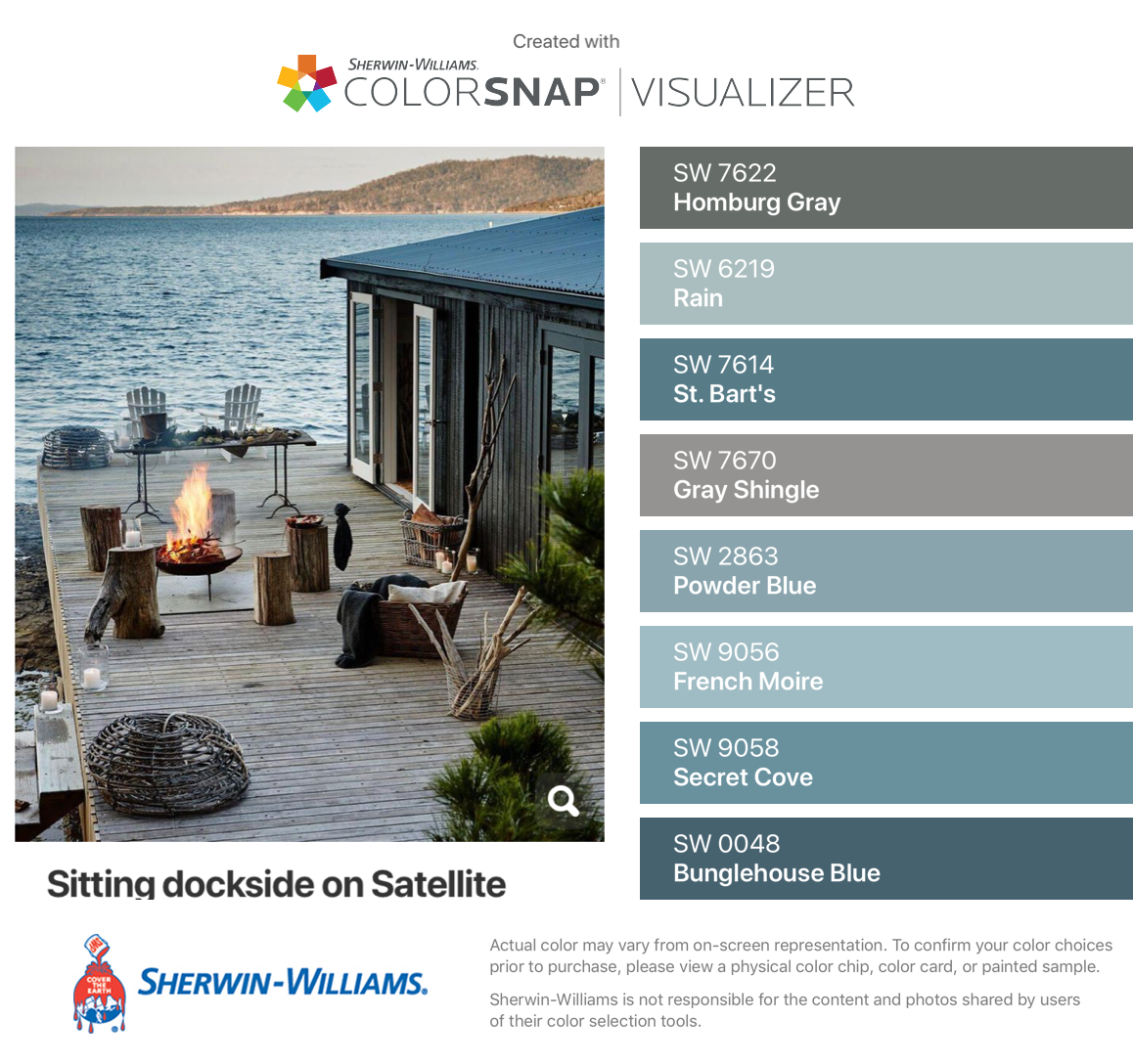 I Found These Colors With Colorsnap Visualizer For Iphone By Sherwin Williams Homburg Gray Sw Cream Colored Houses Paint Colors For Home Blue Color Schemes