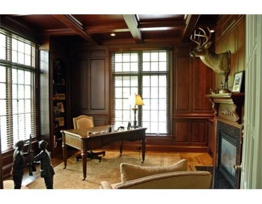 """19 Dramatic Masculine Home Office Design Ideas: Minus The Deer Head, This Almost Has A """"The Godfather"""