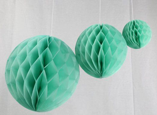 Honeycomb Ball Decorations Amazon Heartfeel 15Cm20Cm 6Pcs Mixed Colors White Grey Mint