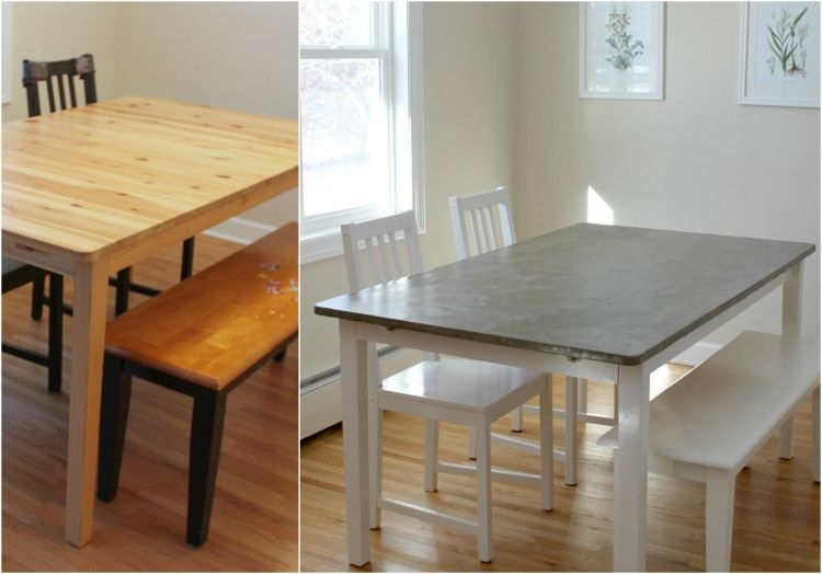 Make A Table In Concrete Look Ideas With Effect Spatula Dining