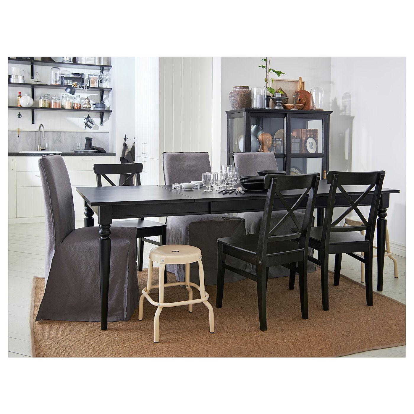 Ingatorp Extendable Table Black 61 84 5 8x34 1 4 Ikea Dining