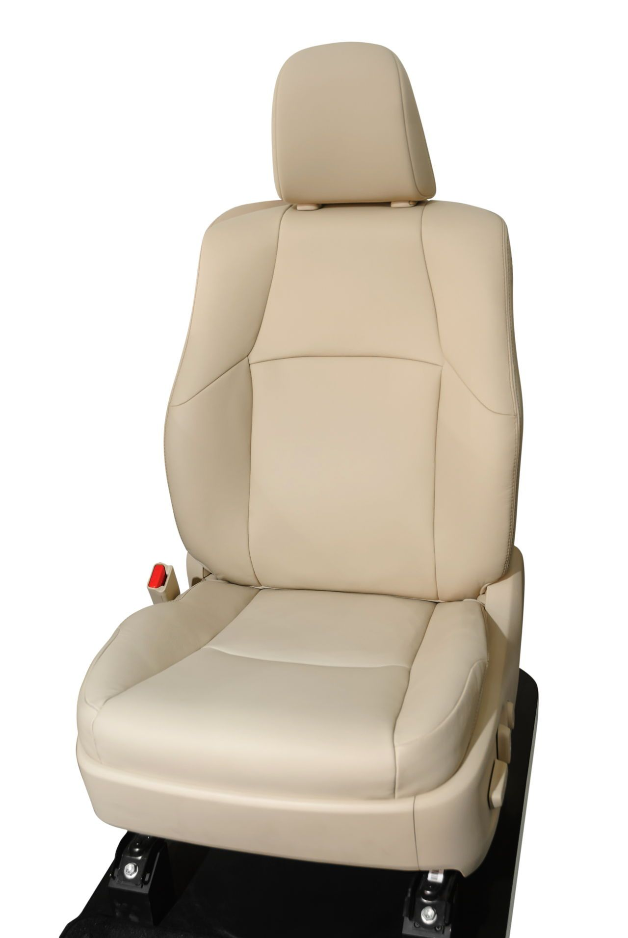 Beige vehicle seat clean leather seats leather seat