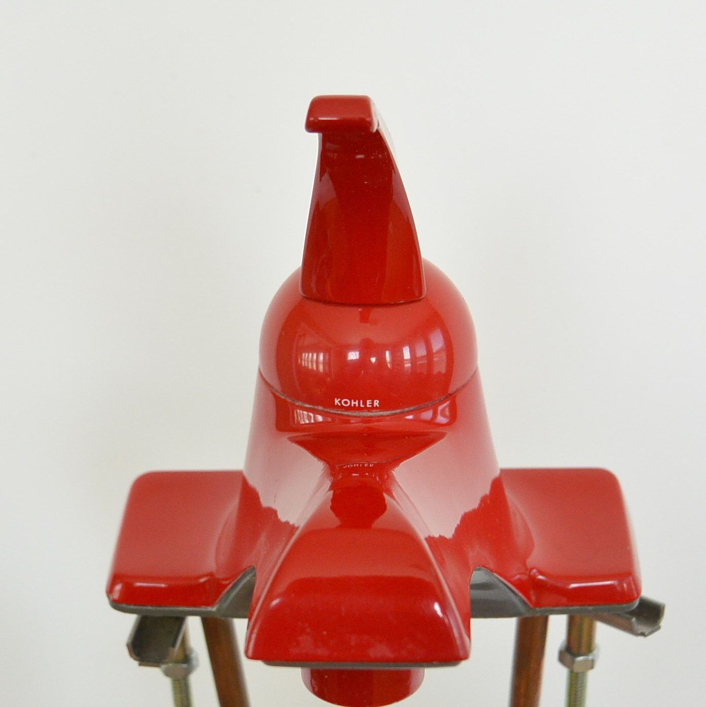 Vintage One Piece Red Bathroom Sink Faucet Candy Apple Red Kohler