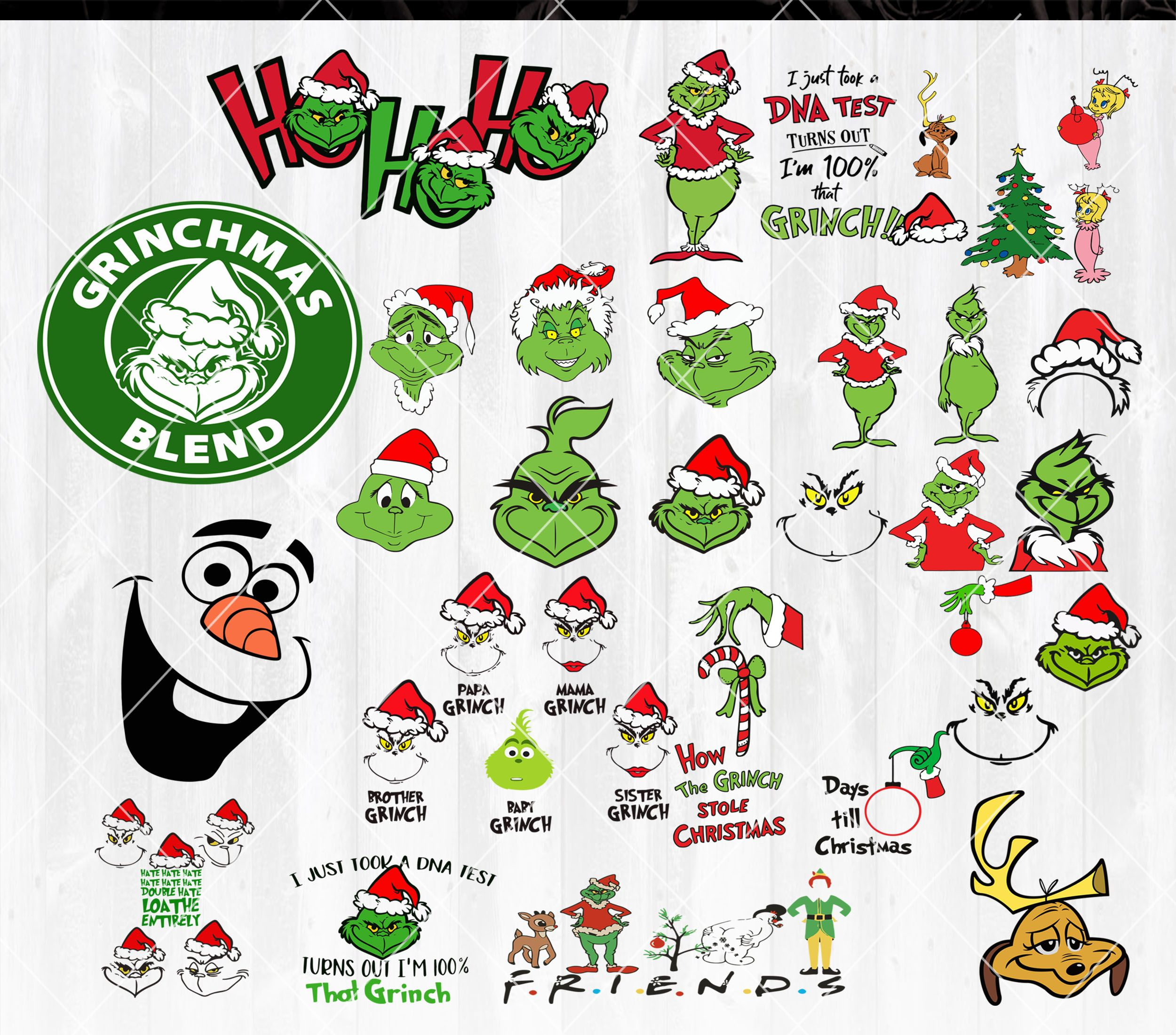 Grinch Hand SVG, Grinch Face SVG Bundle, Grinch svg files