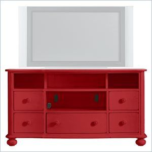 Great Tv Stand Idea Love The Bun Feet And Curved Front