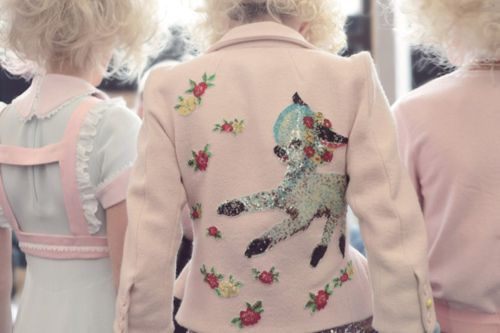Backstage at Meadham Kirchhoff by Eleanor Hardwick