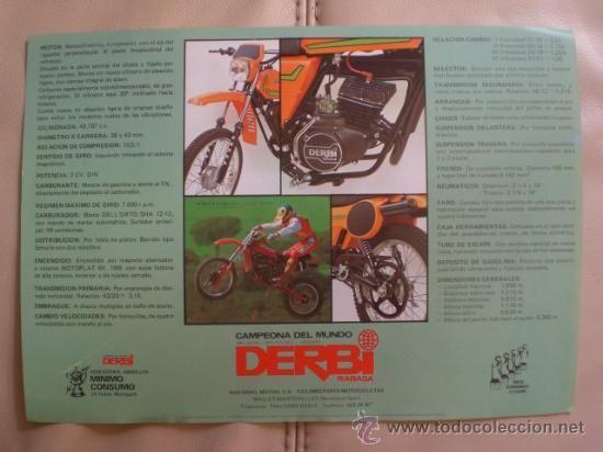 Folleto Publicidad Derbi Rabasa Campeona Del Mundo Ciclomotor Cx Yumbo Original Epoca Folletos Publicidad Folletos Campeones Del Mundo