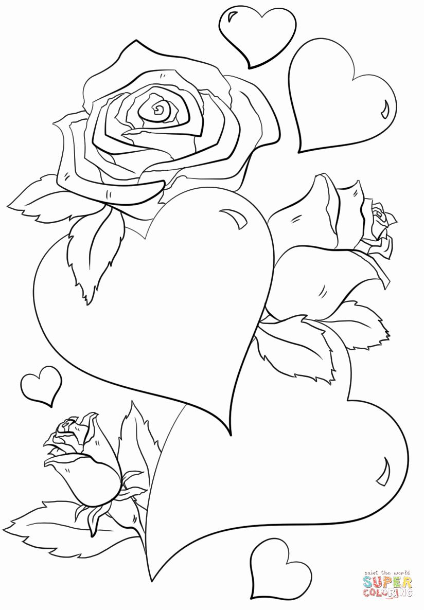 Coloring Pages With Flowers And Hearts Photo 1 Printable Valentines Coloring Pages Heart Coloring Pages Valentines Day Coloring Page