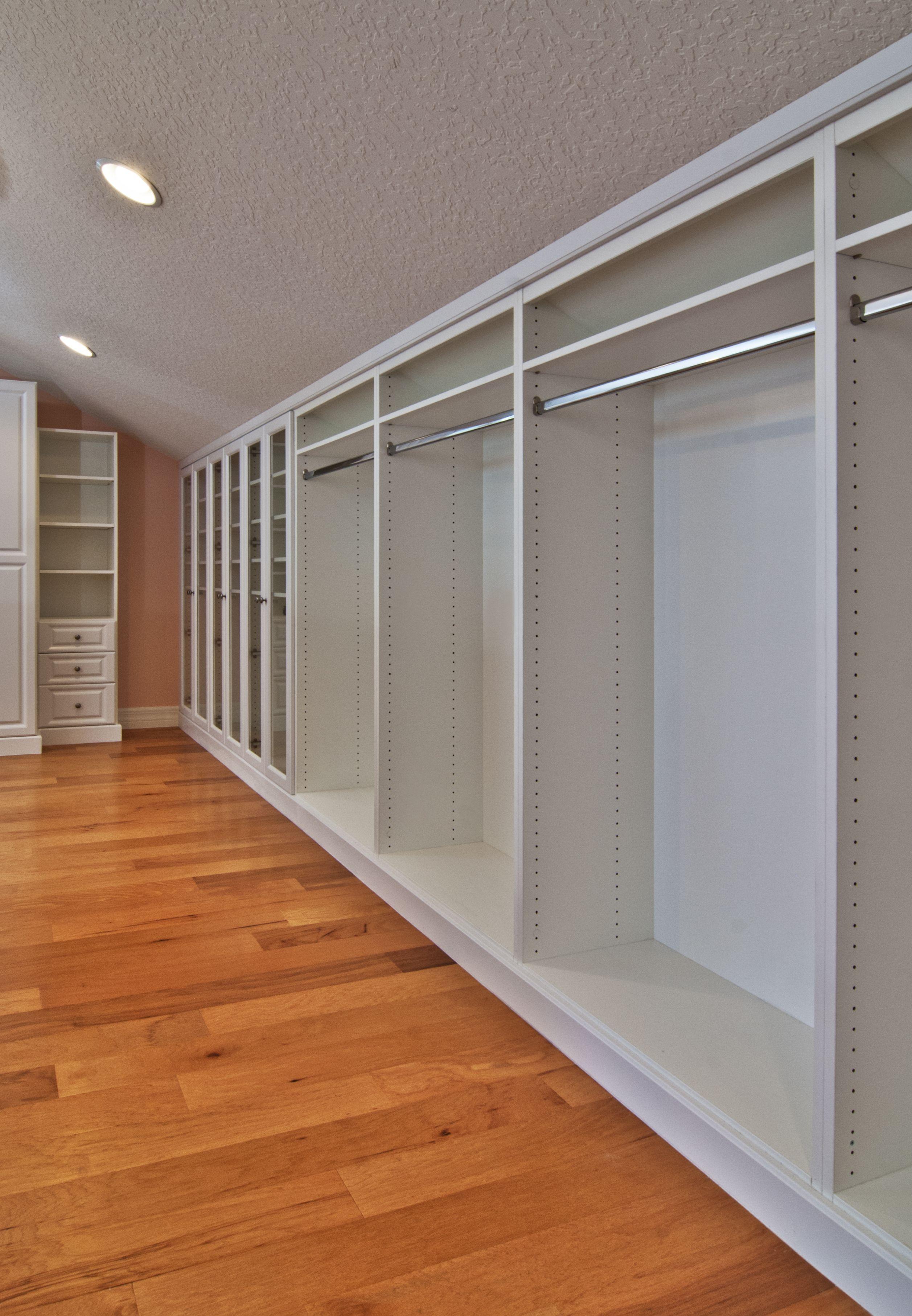 Master Closet White Inside Finished Attic With Angled